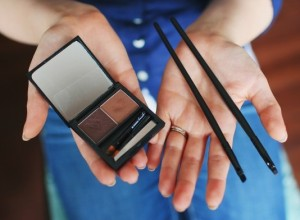 what you need is a good brow kit and an angled liner brush